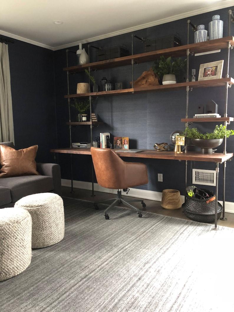 Merveilleux Butcher Block Office Desk Built In