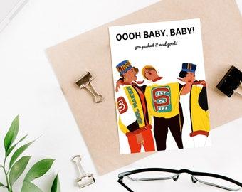 "Salt-N-Pepa ""Push It"" Funny Baby Shower Card (New Baby Card, Pregnancy Card, Expecting Mom Card)"