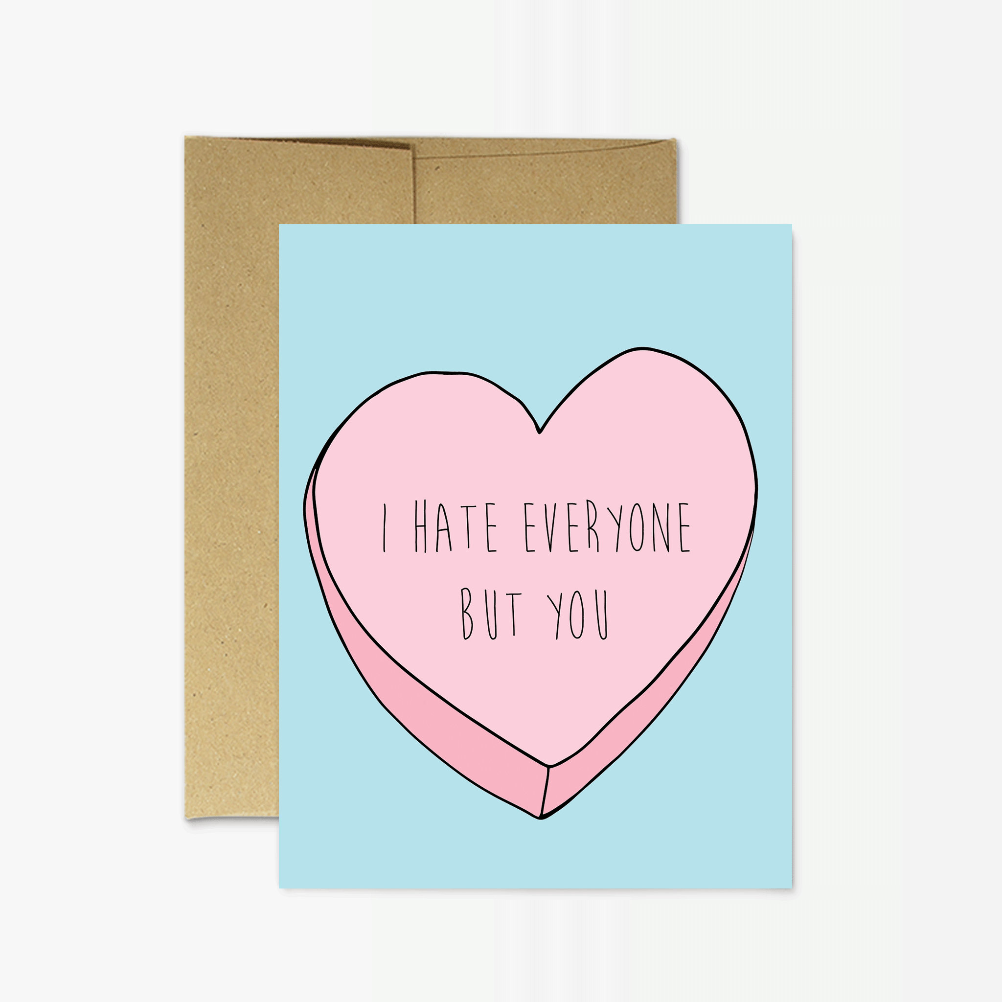 Funny Valentine\'s Day I Hate Everyone But You | Etsy