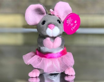 Mouse - Small Stuffed Animal - Ballerina - Cute Mouse - Girl Mouse - Minature - Collectible