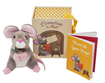Farlee and Friends - Cornelius the Mouse - Pen holder - Plush Mouse Toy - Children's Poetry Book - Matchbox Mouse