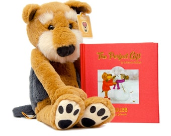 Farlee and Friends ~ Christmas Gift for Kids  - Airedale Terrier Dog - Stuffed Animal - Children's Books - Welsh Terrier