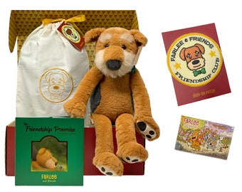 Farlee and Friends ~ The Friendship Promise ~ Gift Set - Airedale Terrier - Plush Toy - Children's Book