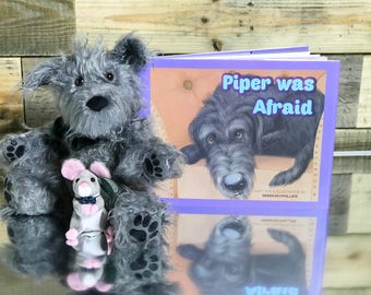 Children's Book - Piper was Afraid - Irish Wolfhound - Plush Puppy - Picture Book - Signed Book - Baby Shower Gift