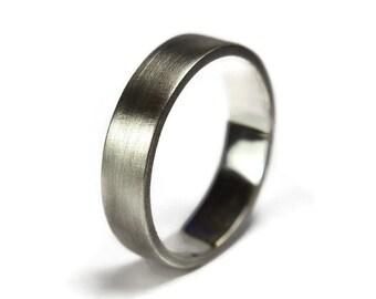 Mens Rustic Wedding Band. Antique Rustic Wedding Band Ring. 6mm