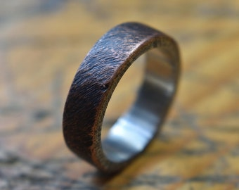 Mens Raw Brushed Antique Copper Wedding Band. Unisex Copper Wedding ring. Mens Antique Rings. Mens Copper Wedding Band. Copper Wedding Ring