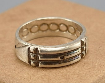 Sterling Silver Atlantis Ring Protection. Silver Atlantean Ring. Unisex Silver Egyptian Ring