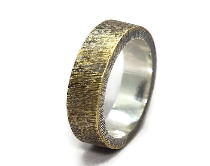 Mens Antique Brass Wedding Band Ring Personalized Brass Ring Custom Wedding Band Ring Antique Brass Wedding Band Gift for Him