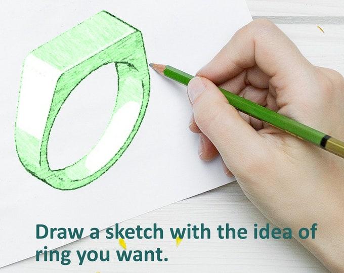 Custom Design Ring. Design Your Own Engraved Ring, Make And Personalize Your Own Ring. Make Own Custom Ring. Design Your Ring