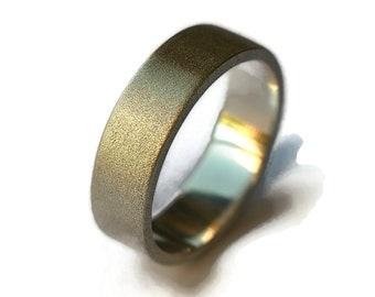 Men's Promise Silver Wedding Ring. Men's Silver Wedding Band Ring.  Custom Free Engraving Silver Ring. Sandblasted Finish Ring 6mm