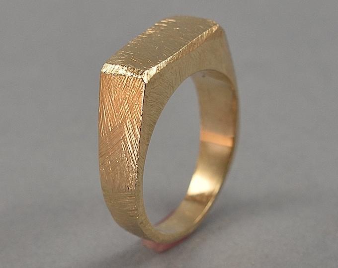Men's Vintage Signet Ring. Men's Brass Custom Ring. Brass Signet Ring. Custom Brass Singet Ring for Men. Polished Finish