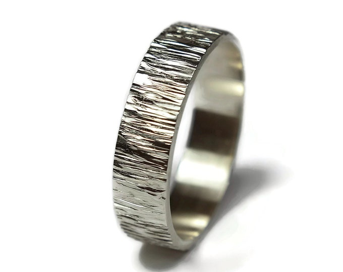 Tree Bark Ring Nature Wedding Ring Mens Wedding Ring Rustic Wedding Ring Rustic Wedding Band Engraved Silver Rustic Wood Grain Ring Polished