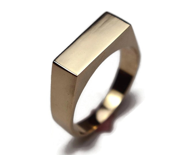 Mens Custom Ring Mens Signet Ring Personalized Ring Mens Golden Ring Engraved Signet Ring Signet Ring for Men Signet Rings Men Brass