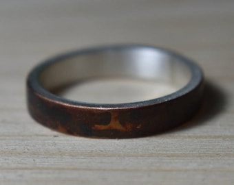Womens Antique Copper Wedding Band. Womens Antique Rings. Unisex Copper Wedding Ring. Womens Copper Wedding Bands. Copper Wedding Rings