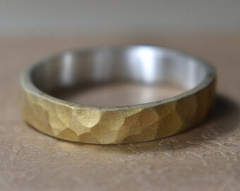 Womens Hammered Gold Wedding Rings. Womens Gold Plated Ring. Womens Gold Plated Wedding Band Ring. Hammered Gold Ring Women