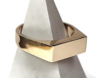 Mens Custom Brass Signet Ring. Mens Signet Ring Men Brass. Signet Ring for Men Brass. Signet Rings Men Brass