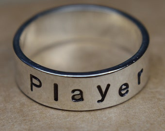 Personalized Name Wedding Band Sterling Silver, Personalized Wedding Band for Men, Personalized Rings for Women, Name Wedding Band