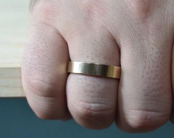 Wedding Ring for Men. Mens Wedding Band Ring Gold, Unisex Wedding Band Ring Yellow Gold, Mens Gold Silver Ring. Mens Wedding Band Ring Gold