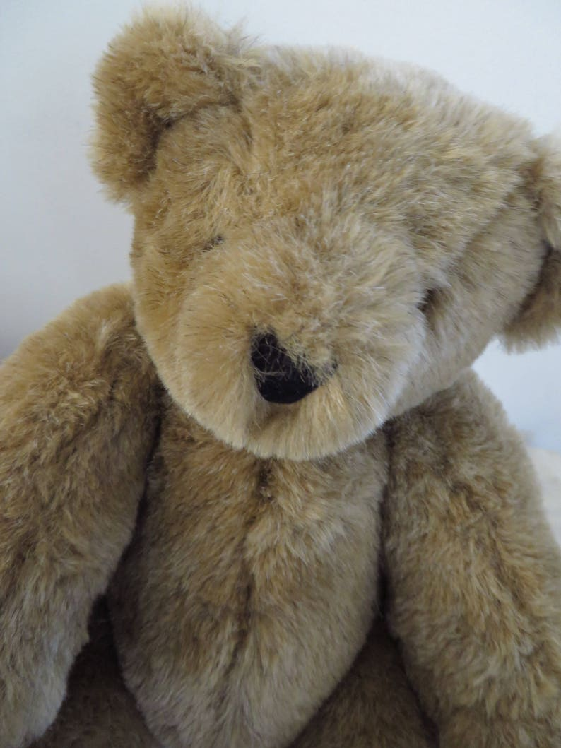 90s Vintage Teddy Bear  Stuffed Animal  Plush Jointed Teddy Bear  Vermont Teddy Bear Company USA  Collectible Toy  Holiday Gift