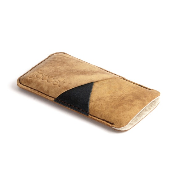 Google pixel 3 case  Leather pixel 3 XL sleeve Full-grain aniline leather  brown wool felt lining Pixel leather sleeve  Google pixel 3 pouch