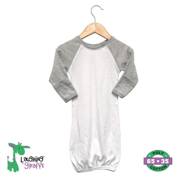 1bcc3e3b5c3 Baby Raglan Gown w  Mittens Baby shower gift baby gift HTV