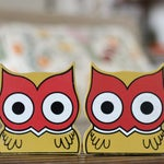 Vintage Painted Owl Bookends / Children's Owl Bookends / Owl Nursery Decor / Nursery Bookends / Bird Nursery Bookends / Owl Decor