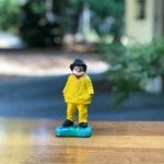 Vintage Cast Iron Old Salt Fisherman Figurine / Ansel G. Coffin  Doorstop / Old Colony Crafts Salt Fisherman / New England Sailor Fisherman