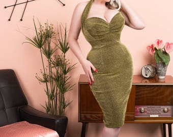 Divine wiggle dress RED OR GOLD