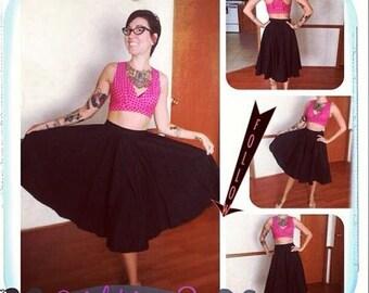Full Circle Skirt, 1950's rockabilly style