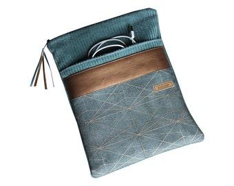 From 39.90 Euro Notebook Sleeve 11-17 inch Breitcord Petrol Copper Geometric