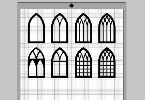 Gothic Windows SVG, (eps, pdf, png, svg, studio3 file types), Arched Frame  Die Cut Files, Silhouette Cameo, Cricut, Instant Download