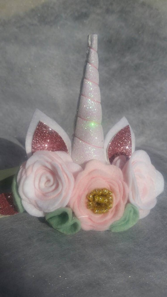 Baby unicorn headband Birthday Crown Party Hat Cake Smash outfit photoshoot girl