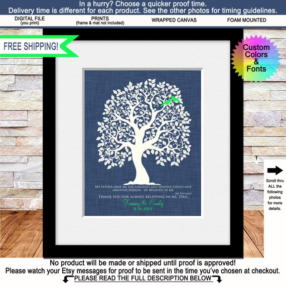 Fathers Day Gift Dad Birthday Wedding For