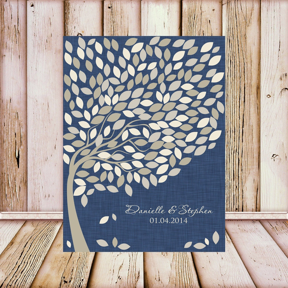 Guest Book Printing: Wedding Guest Book Tree Print Wedding Signature Tree Guest