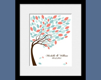 Guest Signature Tree, Alternative Wedding Guest Book, Wedding Guest Signature Tree, 100 Leaves Signature Tree, Guestbook Alternative