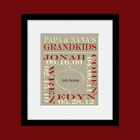 Personalized grandparents christmas gifts