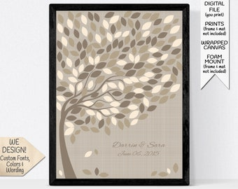 Wedding Guest Book Alternative Signature Sign, Wishing Tree for 200 Guests, Custom Guestbook Alternatives