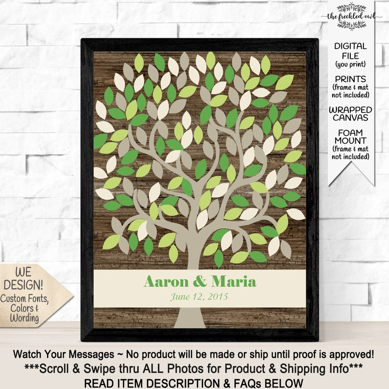 Rustic Wedding Decor, Barnwood Guest Book Alternative, Signature Wishing  Tree Guestbook Alternate for Barn or Country Wedding 145 Leaves
