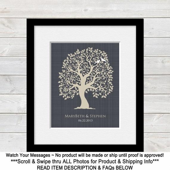 Photo on Tree Wood Print Request Picture Wedding Birthday Vintage Present