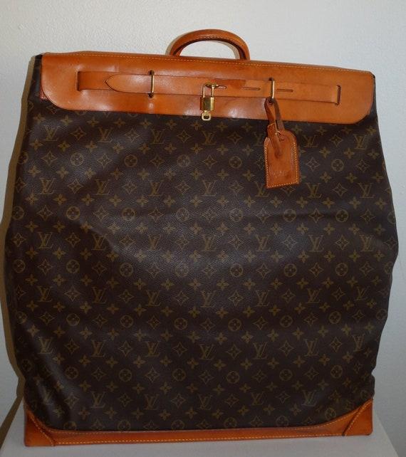 3d39b9fe550 Vintage Louis Vuitton Monogram XL Steamer Luggage Travel Bag