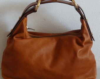 Vintage Gucci Brown Leather Horsebit Hobo Handbag