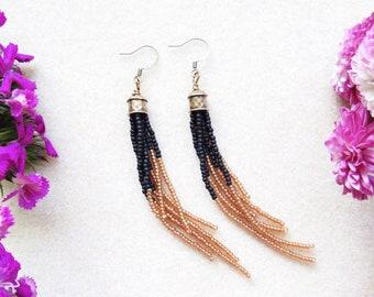 Beaded Earrings > Seed Bead Earrings > Boho Beaded Earrings > Beaded Fringe Earrings > Christmas > New Years
