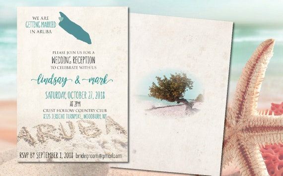 Wedding Invitations Reception After Wedding Destination Etsy