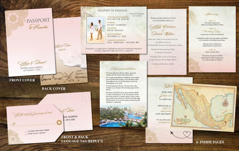 Gold Blush Pink Passport Invites For Destination Wedding Etsy Luggage Tag Hk Love Zoom