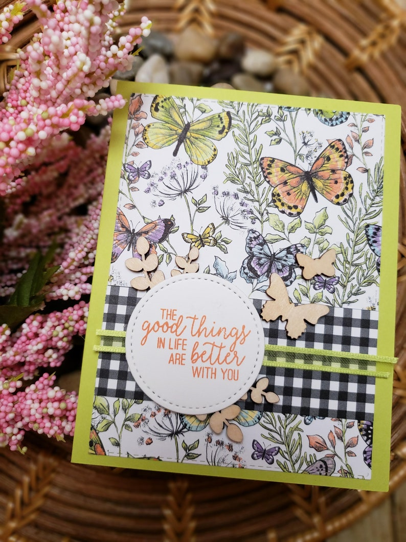 Just Because Greeting Card  Handmade Greeting Card  Blank Inside Greeting Card  Stamped Greeting Card