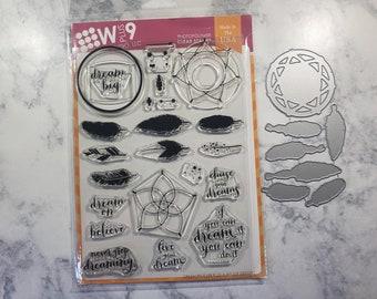 NEW W Plus 9 Dream Believer Stamp & Die Set