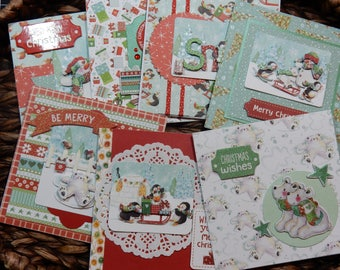 13 Christmas Greeting Cards / Blank Inside Greeting Cards / Greeting Card Set / Greeting Card Pack / Christmas Cards