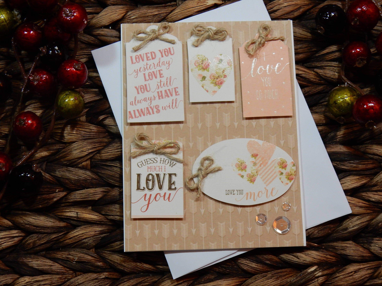 Love Greeting Card Handmade Greeting Card Blank Inside Etsy