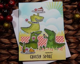 Love Greeting Card / Handmade / Blank Inside Greeting Card / Stamped Greeting Card