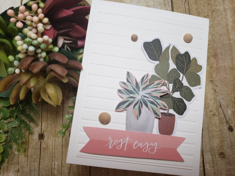 Encouragement Greeting Card  Handmade Greeting Card  Blank Inside Greeting Card  Stamped Greeting Card  Just Because Greeting Cards